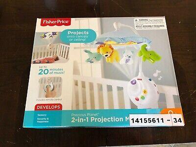 Fisher-Price Precious Planet 2-in-1 Multicolored Nursery Projection Crib
