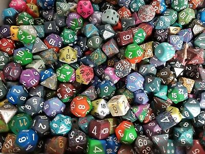Bulk Dice ((100) Chessex Random Loose Polyhedral Dice from Pound O Dice, Lot Game RPG)