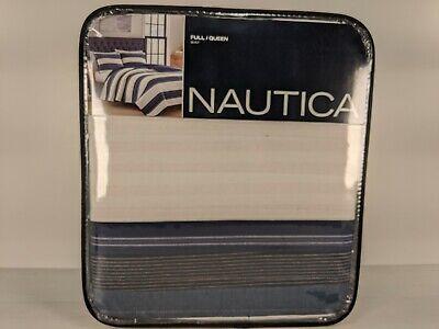 Nautica Briars Navy Full/Queen Quilt. Stripe