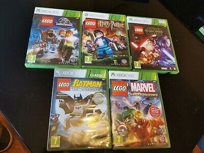 Xbox 360 Lego Game Bundle Jurrasic, Star Wars,Batman,Marvel, Harry Potter Bundle