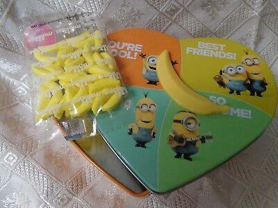 minions trinket heart shaped tin Banana spins 5