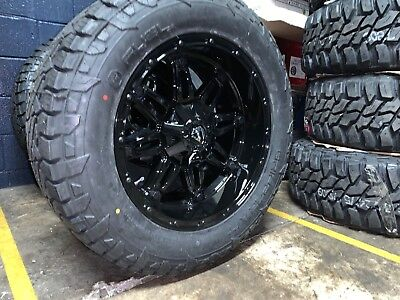 """20x10 Fuel D625 Hostage 33"""" Wheel and Tire Package 6x135 Ford F150 Expedition"""
