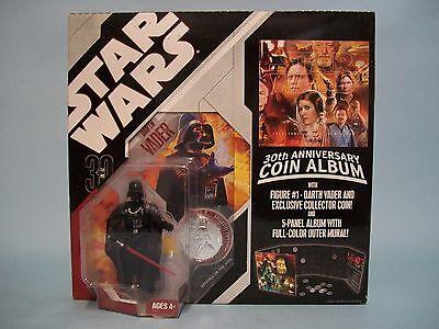 Star Wars 30th Anniversary Coin Album W/ Darth Vader Figure & Coin