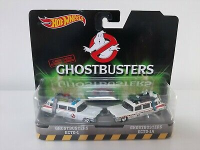*HOT WHEELS GHOSTBUSTERS ECTO-1/ECTO-1A CLASSIC TWIN PACK-MINT*