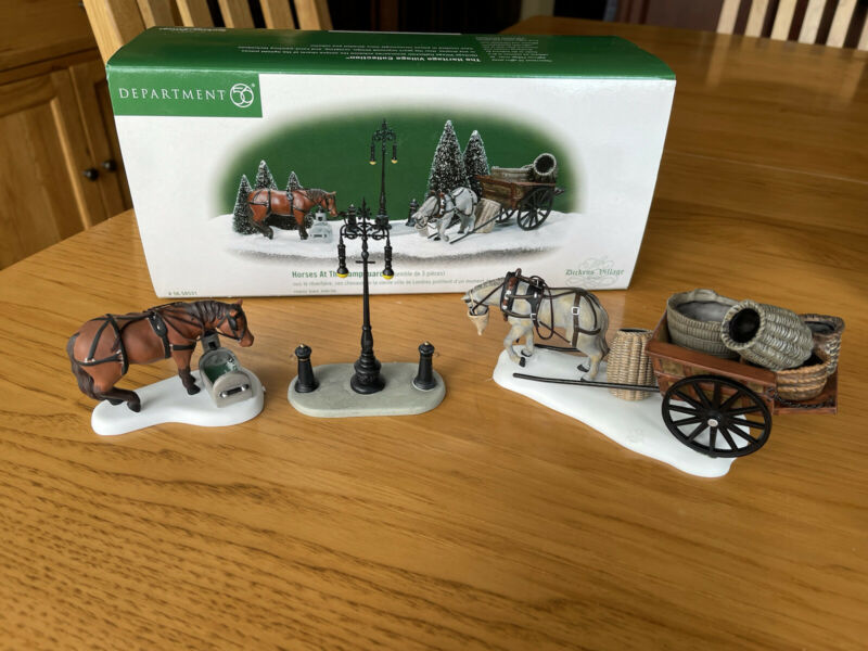 heritage village collection department 56 Horses at the Lampguard 56.58531