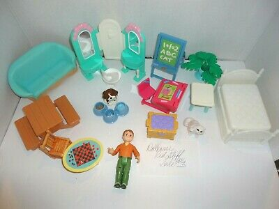 Fisher Price Dollhouse Lot Loving Family Kids Furniture, Etc Sale #3