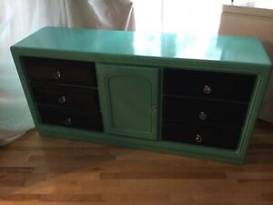 Navy & teal long dresser- available