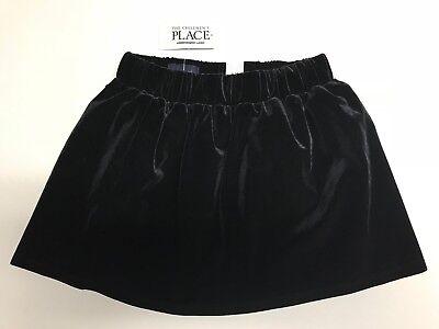 (The Children's Place Girls Black Velvet Skirt)