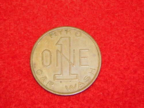 VINTAGE CAR AUTO  RYKO ONE 1 CAR WASH TOKEN COIN