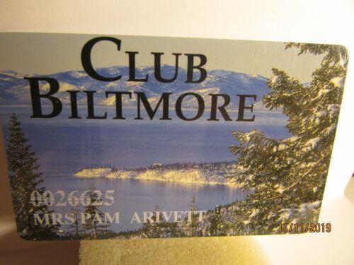 Tahoe Biltmore Lodge & Casino- Crystal Bay, NV.-Club Card-mint