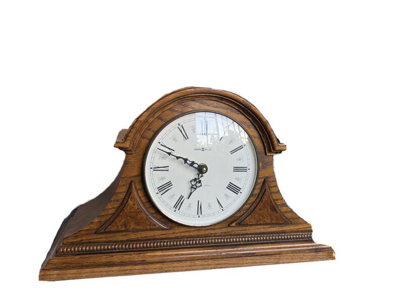 Howard Miller Model 613-103 Westminster Oak Case Mantel Clock Roman Numerals USA