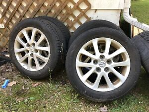 Summer tires on aluminum Mazda rims!!