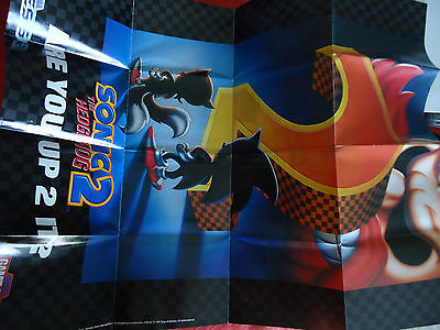 Original Sonic the Hedgehog 2 Sega Genesis / Game Gear Foldable Poster Insert