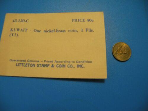 Kuwait 1 Fils coin ? year Littleton Stamps & Coins C29