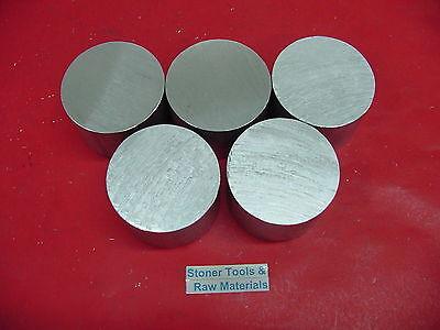 5 Pieces 2-12 Aluminum Round 6061 Solid Rod .75 Long T6 Lathe Ber Stock 2.5