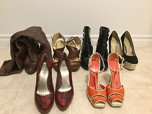 Well-loved shoes: ALDO, Nine West, Franco Sarto, bebe