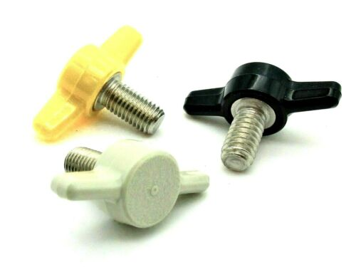 """1/4-28"""" Fine Thread  Thumb Screws  Tee Knobs  Various Colors & Sizes  4 per Pack"""
