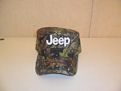 JEEP HAT CADET STYLE GREEN BROWN LEAF CAMOUFLAGE FREE SHIPPING GREAT GIFT 737