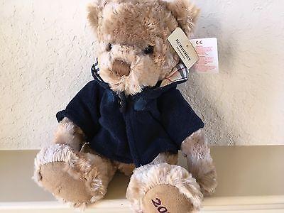 (❤️ NEW BURBERRY Fragrance 2009 Teddy Bear With Nova Check Navy Hoodie)