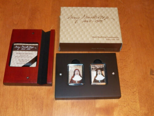 2010 MARY MACKILLOP STAMP AND COIN SET Perth Mint Australia Silver Collector Box