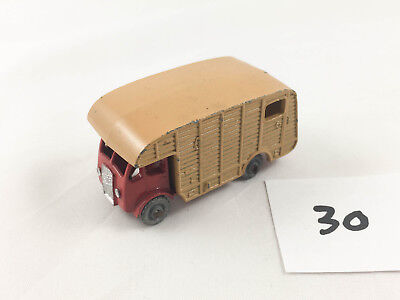 VINTAGE MATCHBOX LESNEY #35A E.R.F. MARSHALL HORSE BOX TRUCK DIECAST RED/TAN, used for sale  Montrose