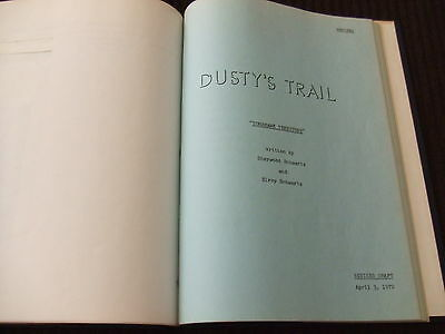 SIGNED 1972 Dusty's Trail PILOT TV Script Bob Denver Forrest Tucker HC Bound FOY