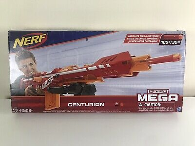 Nerf Centurion Mega Toy Blaster with Folding Bipod, 6-Dart Clip, New Open Box