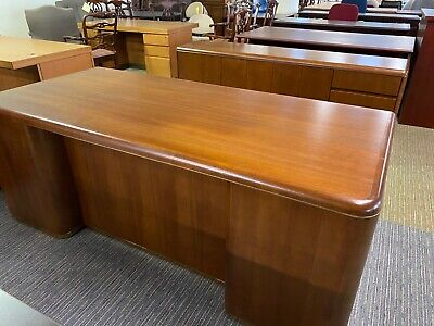 Desk Credenza Set By Davis Furniture Ind. Inc. In Cherry Wood