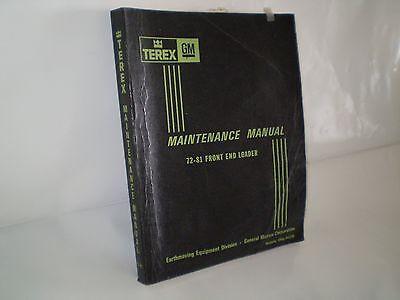 Terex 72-81 Front End Loader Maintenance Manual
