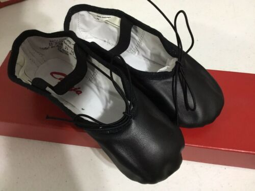 Child Girl's Capezio Daisy Ballet Dance Shoes Black Leather