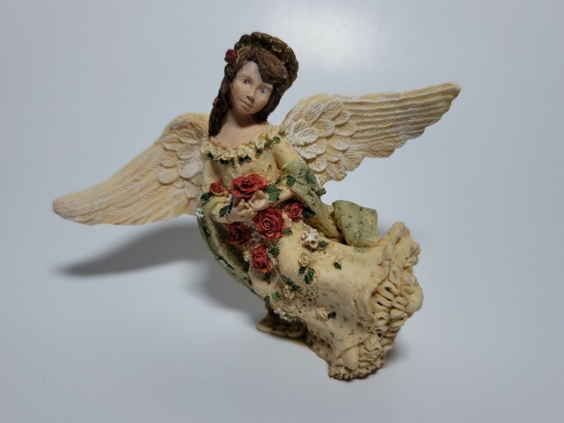 Vintage United Design Co Angel Collection Rose of Sharon Ornament