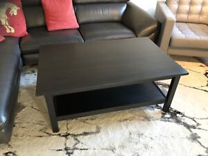 Dark solid wood coffee table