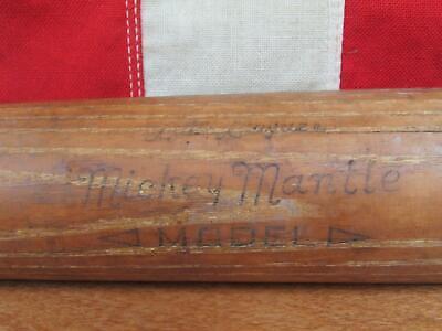 "Vintage Adirondack Wood Baseball Bat 212J HOF Mickey Mantle LL Model 29"" Yankees"