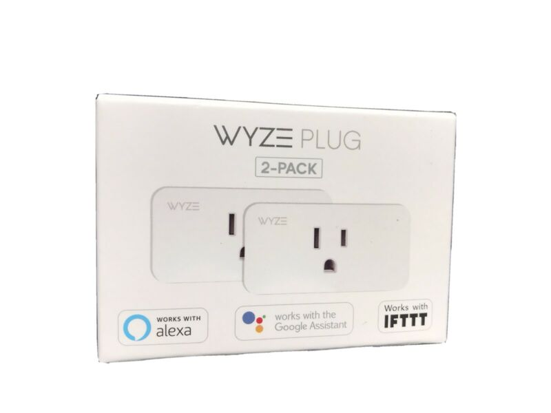 Wyze WLPP1 Smart Plug 2-Pack 13/B6242C
