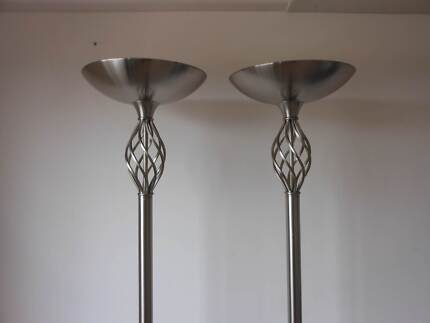 PAIR OF TALL ORNATE VINTAGE LAMPS - CIRCA LATE 1960's. Maylands Bayswater Area Preview