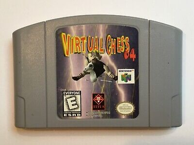 Virtual Chess 64 N64 Nintendo 64 Cart only Cleaned Tested working