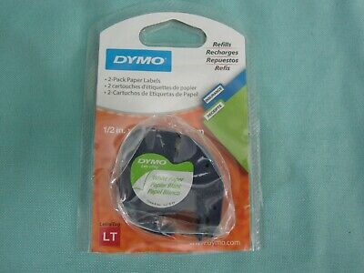Dymo Letratag Refill Labels 12 White Paper - New Open Package - Single