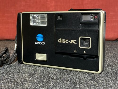 ☆ VINTAGE ☆ MINOLTA DISC-K ☆ Minolta Disc Camera with Flash from 1983 ☆