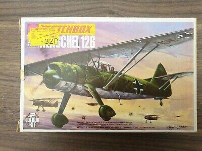 MATCHBOX 1/72 MODEL AIRCRAFT KIT PK-26 Henschel HS 126 Unmade 1st Issue Box 1974