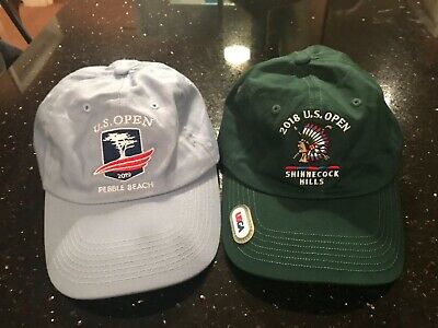 USGA Members US Open Golf Hats 2018 Shinnecock Hills & 2019 Pebble Beach