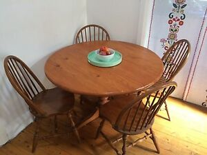 Solid timber dining table and chairs Sans Souci Rockdale Area Preview