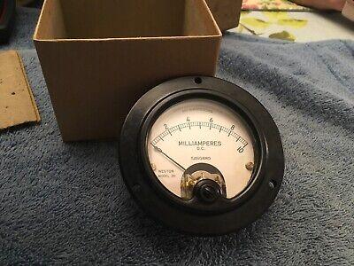 Vintage Radio Panel Meter 0-10 Dc Ma Transmitter Power Sangamo Weston Me407