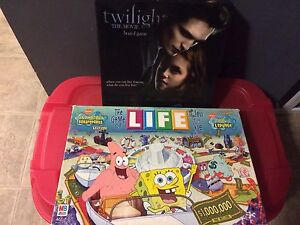 SpongeBob Game of Life and The Twilight Movie Board Game