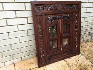 Balinese Wooden Mirror Frame Frenchs Forest Warringah Area Preview