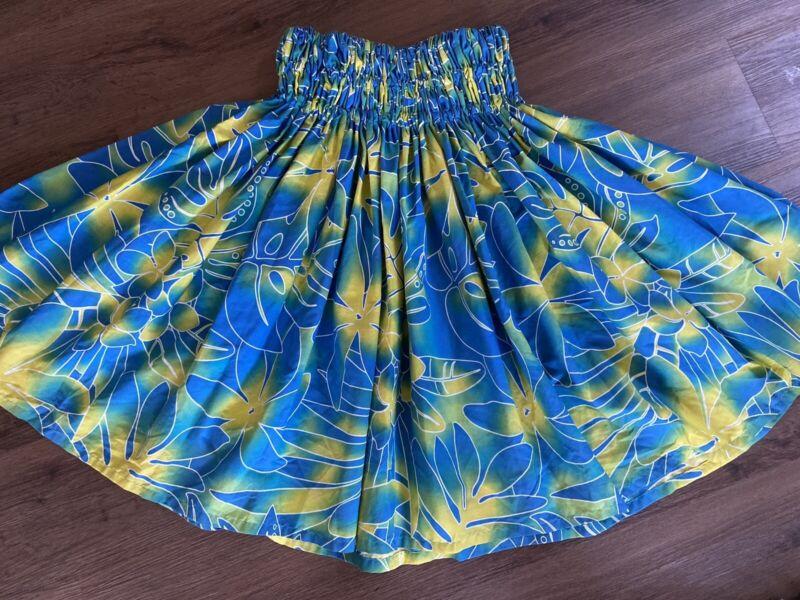 BLUE YELLOW HAWAIIAN PAU PA