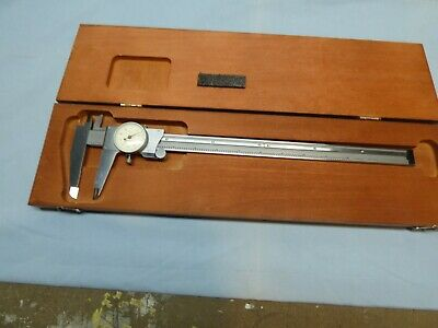 Starrett 120-12 Dial Caliper In Wooden Case 0 To 12 Range