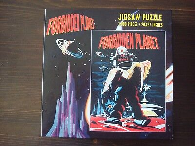 Forbidden Planet Vintage Movie Poster Jigsaw Puzzle 1000 Pieces Complete