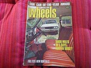 Wheels January 1969 HK Monaro, Charger R/T Centenary Heights Toowoomba City Preview