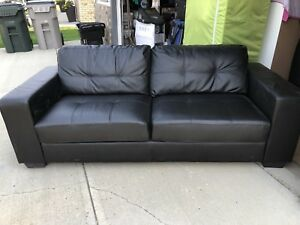 Fake Leather Couch, Chair, and Love Seat