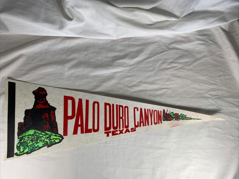"Vintage~Palo Duro Canyon, Texas,  Pennant ~ 25"" Long"